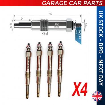 4X Glow Plug Alfa Romeo 156 1.9-2.4 JTD 1997-2006 0100226372
