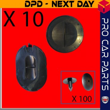 10X RENAULT Megane Scenic MK2 Front Hood Wheel Arch Headlight Flap Cover Cap left&right