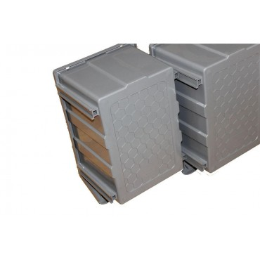10X Plastic Storage Bins Boxes stackable space bin container box 255X400X200 mm