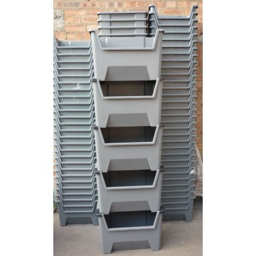 10X Large Plastic Storage Boxes Stackable Space Bin Container Box