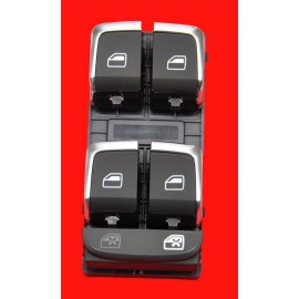 AUDI A4 A4 ALROAD QUATRO A5 8T Q5 FRONT POWER WINDOW CONTROL SWITCH CHROME 8K0 959 851F